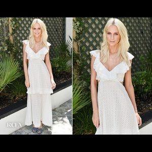 Zimmermann japser honeycomb dress in white